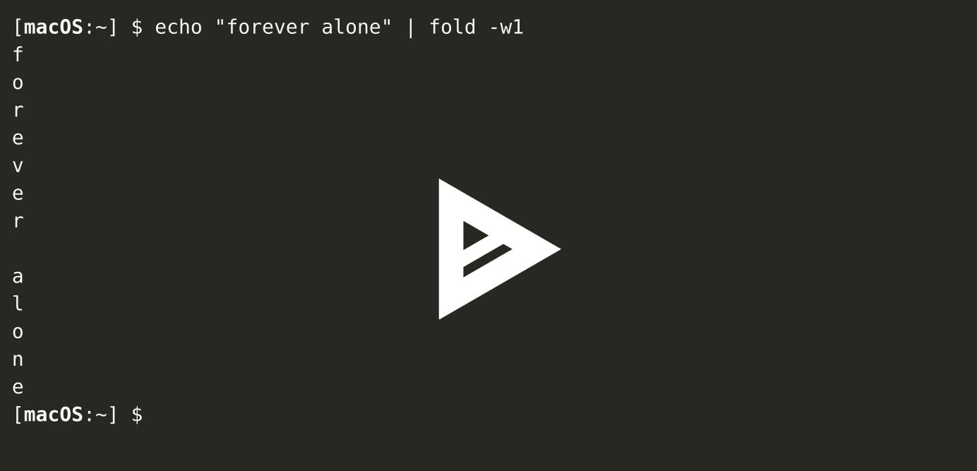macOS fold(1) SEGV